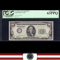 $100 1977 Federal Reserve Note PMG 66 EPQ Fr 2168 gem uncirculated!