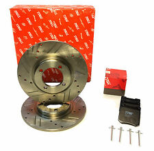 TRIUMPH SPITFIRE FRONT BRAKE KIT UPGRADED TRW/LUCAS ROTORS PADS PINS CLIPS