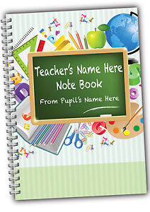 Personalised Teachers A5 softbacked Notebook Notepad