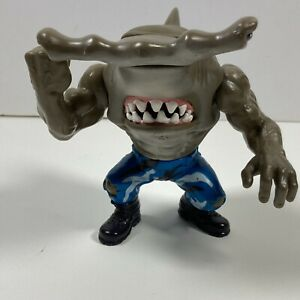 1994 Street Sharks Jab Hammerhead w Blue Camo Pants Street Wise WORKING FIN RARE