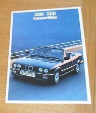 BMW 3 Series E30 Convertible Brochure 1989-1990 - 320i & 325i + 316i Baur