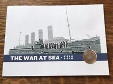 2015 £ 2 la grande guerre. La guerre en mer, deux livres stamp & coin couverture bunc