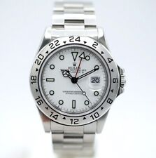 Rolex 16570 Explorer II White Dial Stainless Steel Automatic Men's Watch w/Box