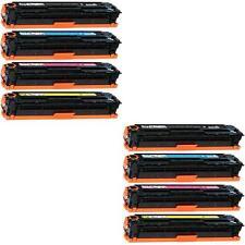 NON-OEM 8 PK TONER HP CE320A CE321A CE322A CE323A 128A CP1525NW CM1415FNW