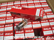 NOS 12AV6 Vacuum Tubes - RCA - MEXICO - 1970's (All American Five, AA5, Radio)