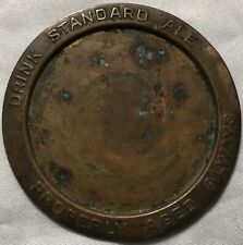 ~ Antique 1900's pre-Prohibition Standard Ale Beer copper Tip Tray Rochester Ny