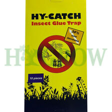Sticky Blue Insect Pests Glue Trap 10xNon-Toxic Home G/house Fly Catch All Hydro