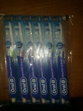 Oral-B Adult Toothbrush-Healthy Clean Soft (LOT of 6) Colors may Vary NEW