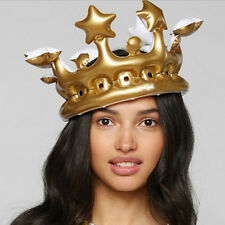 1X Inflatable Crown Queen For The Day Toy birthday Party Favour Night Present EB