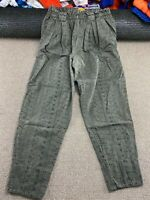 Vintage Womens Pants Mom Pants Green Khaki Flower Print Mom jean style VTG