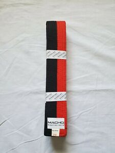 "MACHO SIZE 2 Taekwondo Poom Belt Deluxe 2"" Thick & Wide Martial Arts NEW"