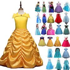 Kinder Prinzessin Kleider Belle Cinderella Cosplay Kostüm Abendkleid Ballkleid