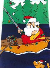 Fishing Boat Santa Neck Tie Festive Fish Pond Holiday XMAS Mens Hallmark Tree