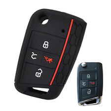 4Buttons Silicone Key Cover Case For 2017-VW Polo Golf Remote Fob Protector