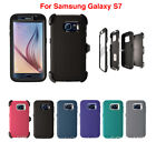 For Samsung Galaxy S7 Defender Case w/ (Clip fits Otterbox) & Screen Protector