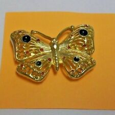 Butterfly Brooch Gold Tone