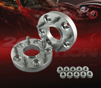 """2pc 25mm (1"""") Thick 5x114.3 Hub Centric Wheel Adapters Spacers 1/2""""-20 71.5mm"""