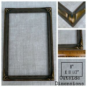 """Batwing Pie Crust Arts & Crafts Wood Picture Frame Vintage Bat Wing 8"""" X 11 1/2"""""""