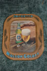 RARE VINTAGE IMPORTED MOLSON GOLDEN CANADIAN BEER BAR SIGN ADVERTISING FAUX WOOD