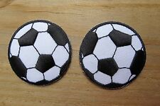 #2740S Lot 2PCS Soccer Ball Embroidery Iron On Appliqué Patch