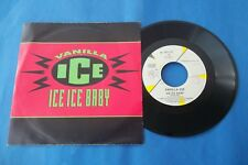 "VANILLA ICE ""ICE ICE BABY "" 45 GIRI 1990 SBK RECORDS NUOVO"