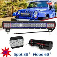"126W 20"" inch LED WORK LIGHT BAR FLOOD SPOT COMBO OFFROAD 4WD SUV Driving LAMP"