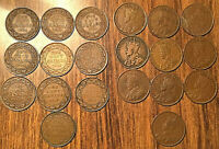 1911 TO 1920 COMPLETE SET OF GEORGE V PENNY - all VG-F or better