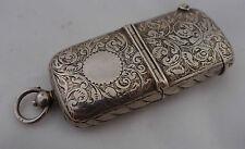 Edwardian Silver Sovereign & Vesta Case 1905