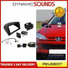 CTKPE02 Double Din Fascia Steering Adaptor Fitting Kit for Peugeot 206 2002-2009