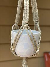 Handmade Macrame Plant Hanger WITH POT | Handmade USA!! Hanging Planter