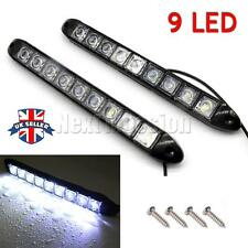 White 2pcs 12V 9 LED Daytime Running Light DRL Car Fog Day Driving Lamp Lights