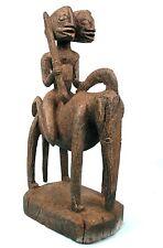 Art Africain Arts Premiers - Spectaculaire Cavalier Dogon Double Face - 56 Cms