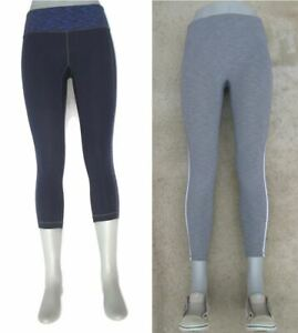 2 Pairs Athleta Skinny Yoga Workout Leggings Tights Sz S Ankle & Mid Calf