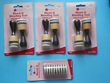 3 Packs of Woodware BLENDING TOOLS plus 1 pack of REFILLS  paints inks chalks