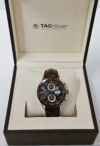 Tag Heuer Carrera CV2A12-0 Brown Cal 16 Automatic Chronograph Mens Watch Box