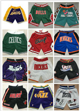 Lakers Warriors All-Star Heat fireTeams Pocket Embroidery basketball Shorts