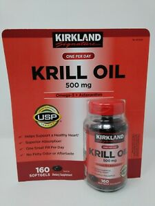 Kirkland signature krill oil 500 mg. 160 softgels