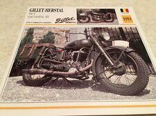 Fiche moto collection Atlas Motorcycle Gillet Herstal 500 L estafette AB 1951