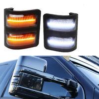 Luces de marcador de espejo lateral de lente LED para 08-16 Ford F250 F350 F450