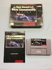 Nigel Mansell's World Championship Racing (Super Nintendo Entertainment System)