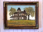 VTG H Hargrove signed certified original Oil Painting Old Country House Home