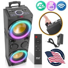 Pyle Pphd210 10' Portable Bluetooth Pa Karaoke Speaker System with Led Lights