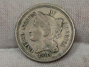 1881 3¢ Cent Nickel. #14