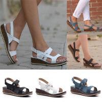 Women Platform Sandals Espadrille Ankle Strap Slingback Summer Peep Toe Shoes