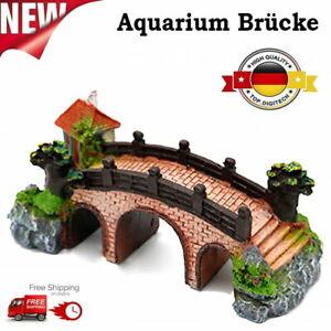 Aquarium Deko Kleine Brücke Steingarten Felsenhöhle landschaftlich Dekoration