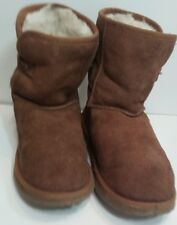 UKALA Womens Size 8 W Brown Suede Boots 100% MERINO WOOL LINED
