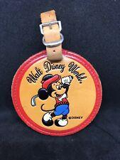 Vintage Walt Disney World Tooled Leather Luggage Tag