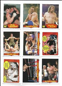 1985 OPC World Wrestling Fed:Lot of 9 diff. including #11 Randy Savage Attack