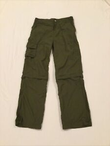 REI Sahara Convertible Nylon Pants Zip-off Capris Shorts Boys L 14-16 Tan