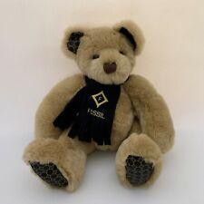 Authentic Fossil Teddy Bear Plush Stuffed Animal Felt Scarf